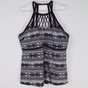 Breaking Waves Boutique Caged Swim Tankini Size 3X